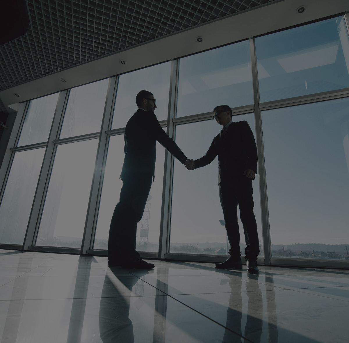 Hand shakes in commercial property